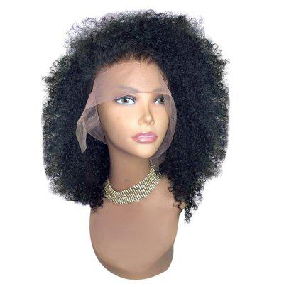 Buy Medium Free Part Shaggy Afro Curly Synthetic Lace Front Wig, NATURAL BLACK, 12INCH, Health & Beauty, Hair Extensions & Wigs, Lace Front Wigs for $60.18 in GearBest store