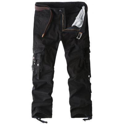 Straight Leg Pockets Cargo Pants