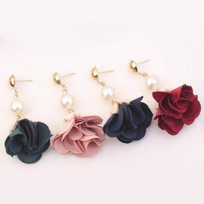 Faux Pearl Alloy Bead Flower Layered EarringsEarrings<br>Faux Pearl Alloy Bead Flower Layered Earrings<br><br>Earring Type: Drop Earrings<br>Gender: For Women<br>Length: 4.2CM<br>Package Contents: 1 x Earring (Pair)<br>Shape/Pattern: Floral<br>Style: Trendy<br>Weight: 0.0600kg