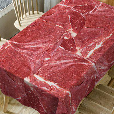 Meat Print Waterproof Dining Table ClothTable Accessories<br>Meat Print Waterproof Dining Table Cloth<br><br>Material: Polyester<br>Package Contents: 1 x Table Cloth<br>Pattern Type: Food<br>Type: Table Cloth<br>Weight: 0.3750kg