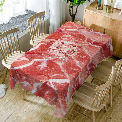 Raw Meat Pattern Fabric Waterproof Table Cloth