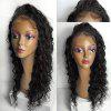 Long Free Part Water Wave Lace Front Synthetic Wig - NATURAL BLACK