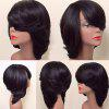 Short Side Bang Thick Straight Feathered Bob Synthetic Wig - STORMY