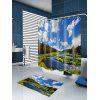 River In Forest Pattern Waterproof Shower Curtain - COLORMIX