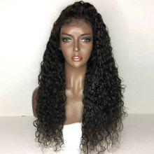 Long Free Part Fluffy Water Wave Lace Front Human Hair Wig
