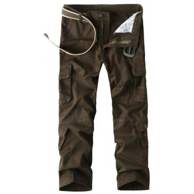 Multi Flap Pockets Straight Cargo Pants