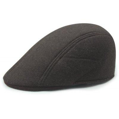 Simple Solid Color Faux Wool Newsboy Hat