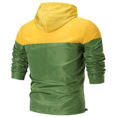 Zip Up Waterproof Hooded JacketMens Jackets &amp; Coats<br>Zip Up Waterproof Hooded Jacket<br><br>Closure Type: Zipper<br>Clothes Type: Jackets<br>Collar: Hooded<br>Material: Polyester<br>Occasion: Casual, Daily Use, Going Out, Sports<br>Package Contents: 1 x Jacket<br>Season: Spring, Fall<br>Shirt Length: Regular<br>Sleeve Length: Long Sleeves<br>Style: Active, Casual, Fashion, Streetwear<br>Weight: 0.3700kg