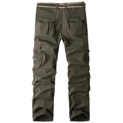 Loose Cargo Pockets Multi Pants With Straight rTCwxOqAr