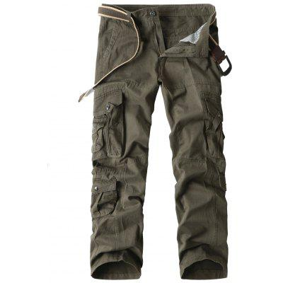 Loose Straight Cargo Pants with Multi Pockets