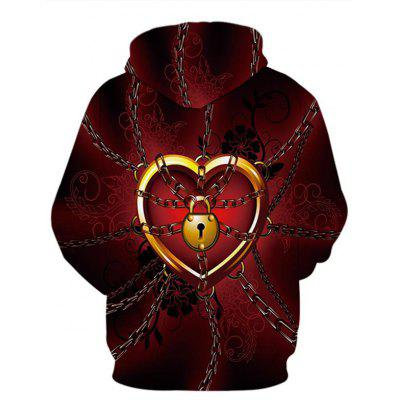 Floral Lock Heart Print Valentines Day HoodieMens Hoodies &amp; Sweatshirts<br>Floral Lock Heart Print Valentines Day Hoodie<br><br>Clothes Type: Hoodie<br>Material: Polyester, Spandex<br>Occasion: Sports, Going Out, Daily Use, Casual<br>Package Contents: 1 x Hoodie<br>Patterns: 3D,Heart<br>Shirt Length: Regular<br>Sleeve Length: Full<br>Style: Casual<br>Thickness: Regular<br>Weight: 0.4000kg