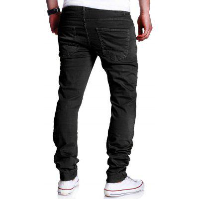 Straight Leg Skinny Broken JeansMens Pants<br>Straight Leg Skinny Broken Jeans<br><br>Closure Type: Zipper Fly<br>Fabric Type: Denim<br>Fit Type: Skinny<br>Material: Cotton, Polyester<br>Package Contents: 1 x Jeans<br>Pant Length: Long Pants<br>Pant Style: Straight<br>Waist Type: Mid<br>Wash: Destroy Wash<br>Weight: 0.6000kg<br>With Belt: No