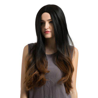 Adiors Long Middle Part Ombre Slightly Curled Synthetic Wig