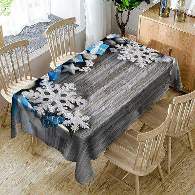 Festival Decorations Print Waterproof Table Cloth