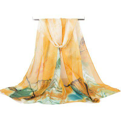 Vintage Spring Autumn Silky Long Scarf