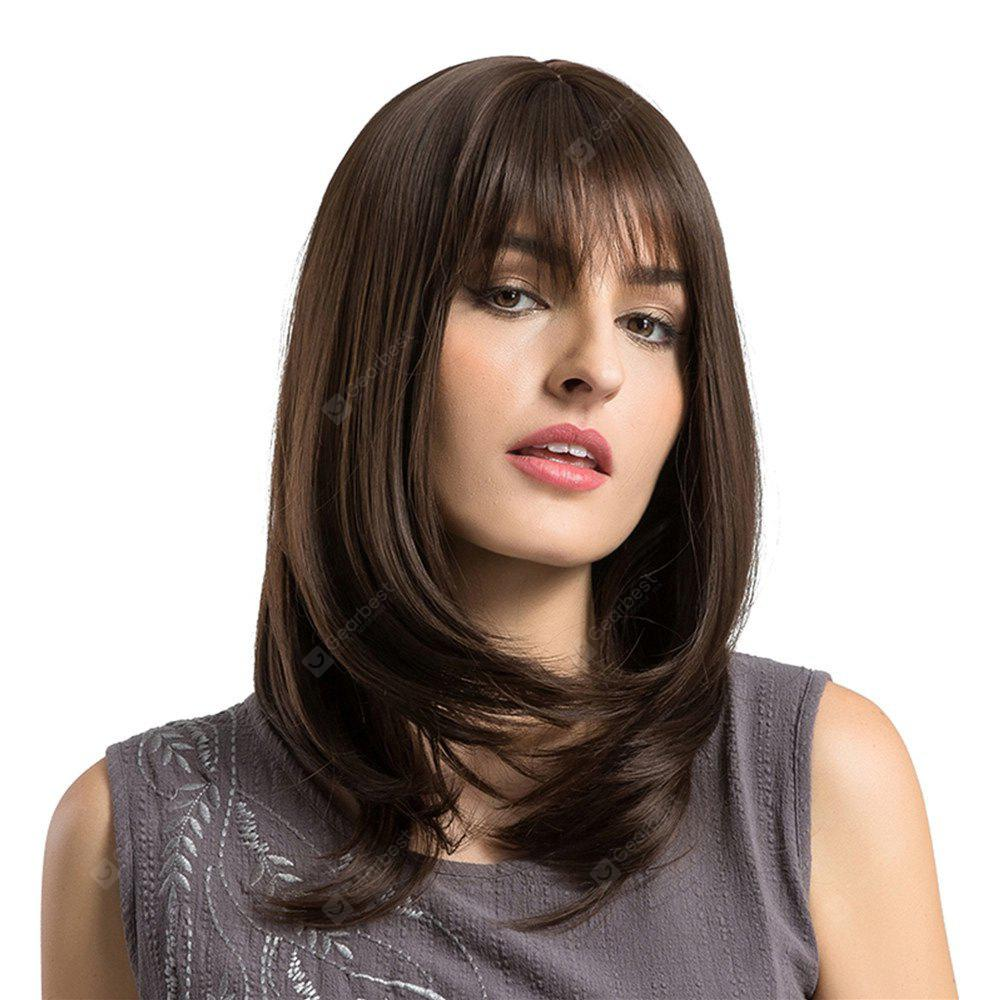 Adiors Long See-Through Bang Layered Straight Bob Synthetic Wig