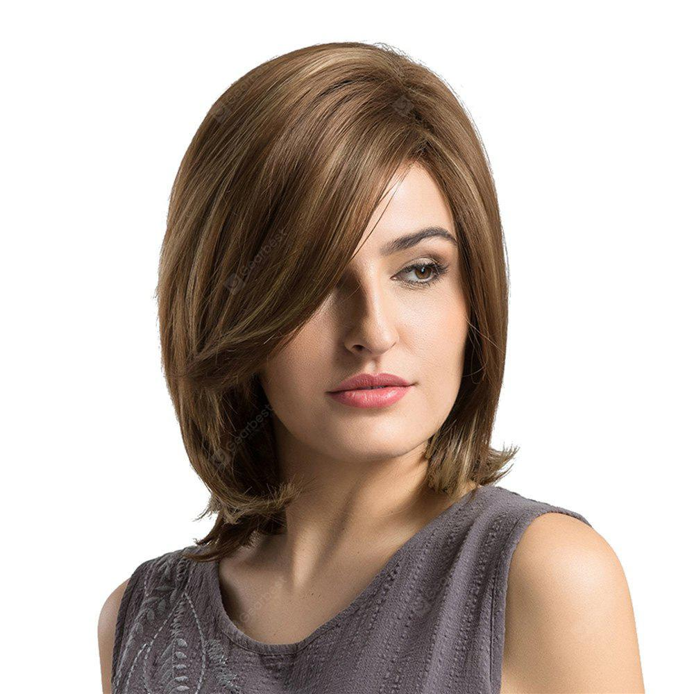 Adiors Short Side Bang Slight Tail Adduction Straight Bob Synthetic Wig