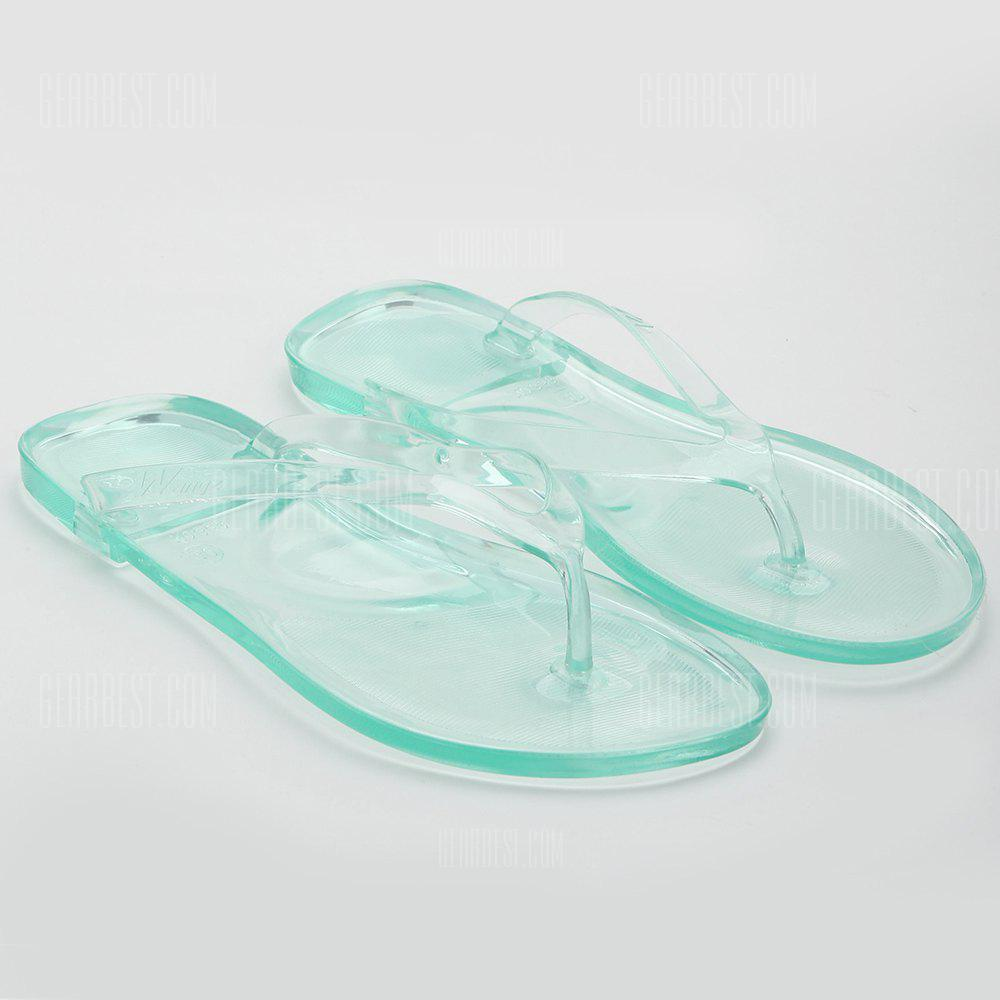 Casual Tansparent Clear Flip Flops