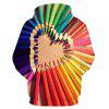 3D Colored Pencils Heart Valentine's Day Hoodie - COLORMIX