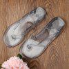Casual Tansparent Clear Flip Flops - BLUE GRAY