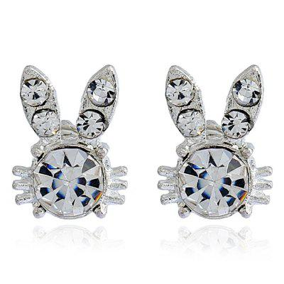 Rabbit Shape Rhinestone Stud Earrings