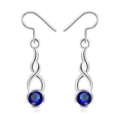 Faux Sapphire Drop Earrings