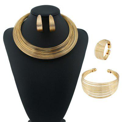 Miao Ethnic Cuff Necklace Earrings Bracelet and Ring