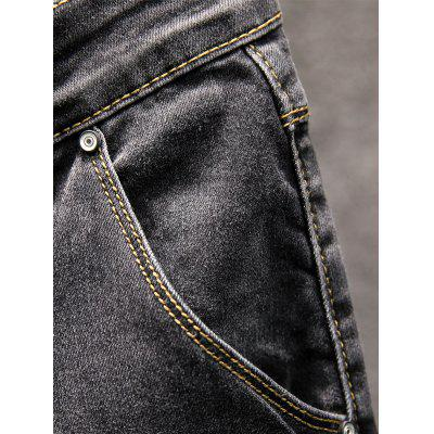 Slim Fit Zipper Fly Straight JeansMens Pants<br>Slim Fit Zipper Fly Straight Jeans<br><br>Closure Type: Zipper Fly<br>Fabric Type: Denim<br>Fit Type: Regular<br>Material: Cotton, Polyester<br>Package Contents: 1 x Jeans<br>Pant Length: Long Pants<br>Pant Style: Straight<br>Waist Type: Mid<br>Wash: Medium<br>Weight: 0.5800kg<br>With Belt: No
