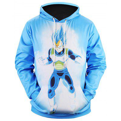 Anime Printed Pullover Casual Hoodie