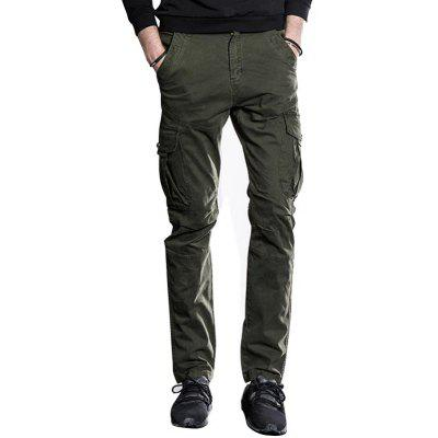 Slim Fit Cargo Pants with Pockets