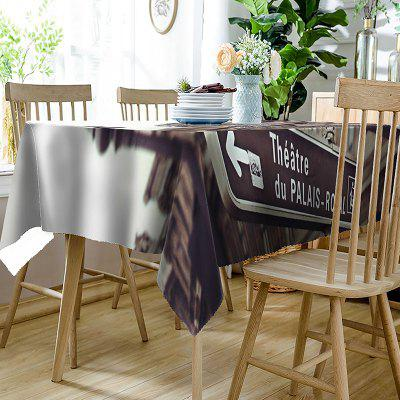 City Indicator Printed Waterproof Table ClothTable Accessories<br>City Indicator Printed Waterproof Table Cloth<br><br>Material: Polyester<br>Package Contents: 1 x Table Cloth<br>Pattern Type: 3D<br>Type: Table Cloth<br>Weight: 0.3350kg