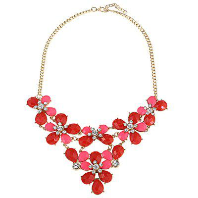 Party Jewelry Floral Layered Necklace