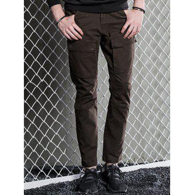 Multi Pockets Slim Fit Cargo PantsMens Pants<br>Multi Pockets Slim Fit Cargo Pants<br><br>Closure Type: Zipper Fly<br>Fit Type: Regular<br>Front Style: Pleated<br>Material: Cotton Blends<br>Package Contents: 1 x Pants<br>Pant Length: Long Pants<br>Pant Style: Cargo Pants<br>Style: Casual<br>Waist Type: Mid<br>Weight: 0.7000kg<br>With Belt: No