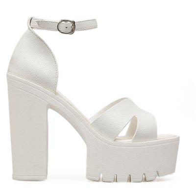 Ankle Strap Lug Sole Sandals