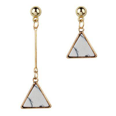 Asymmetric Triangle Bar Drop Earrings