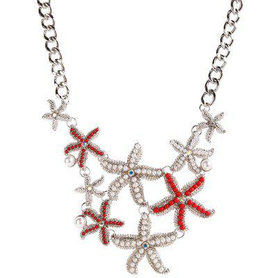 Faux Pearl Starfish Sea Necklace