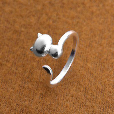 Metal Cat Tail Adjustable Open Finger Ring