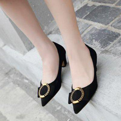 Buckled Faux Suede PumpsWomens Pumps<br>Buckled Faux Suede Pumps<br><br>Embellishment: Buckle<br>Heel Height: 4CM<br>Heel Height Range: Low(0.75-1.5)<br>Heel Type: Kitten Heel<br>Occasion: Casual<br>Package Contents: 1 x Pumps (pair)<br>Pumps Type: Basic<br>Season: Spring/Fall, Summer<br>Shoe Width: Medium(B/M)<br>Toe Shape: Pointed Toe<br>Toe Style: Closed Toe<br>Upper Material: Suede<br>Weight: 1.2000kg