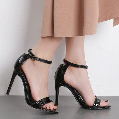 Two-piece Stiletto Heel SandalsWomens Sandals<br>Two-piece Stiletto Heel Sandals<br><br>Closure Type: Buckle Strap<br>Gender: For Women<br>Heel Height: 10.5CM<br>Heel Height Range: Super High(Above4)<br>Heel Type: Stiletto Heel<br>Occasion: Casual<br>Package Contents: 1 x Sandals (pair)<br>Pattern Type: Solid<br>Sandals Style: Ankle Strap<br>Shoe Width: Medium(B/M)<br>Style: Elegant<br>Upper Material: PU<br>Weight: 1.5000kg