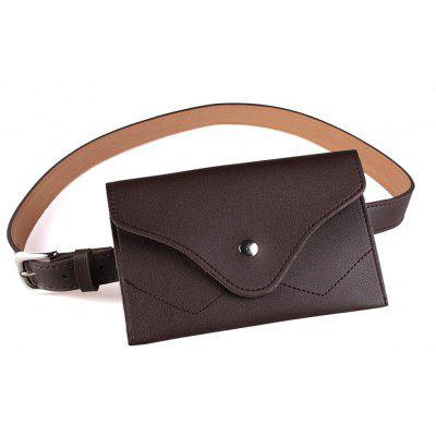 Removable Fanny Pack Embellished Faux Leather Skinny Belt