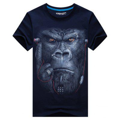 Gorilla with Earphone 3D Print TeeMens Short Sleeve Tees<br>Gorilla with Earphone 3D Print Tee<br><br>Collar: Crew Neck<br>Material: Cotton, Polyester<br>Package Contents: 1 x Tee<br>Pattern Type: 3D, Animal<br>Sleeve Length: Short<br>Style: Casual, Active<br>Weight: 0.2300kg