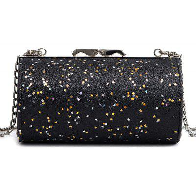Cylinder Shaped Sequined Crossbody Bag