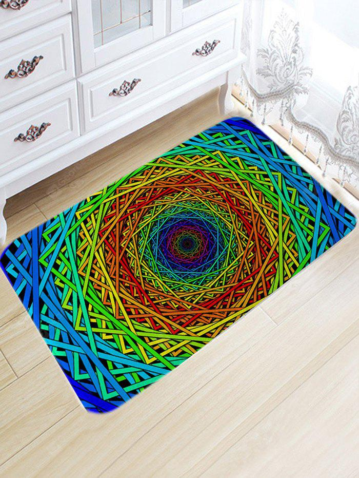 Abstract Psychedelic Geometric Nonslip Area Rug