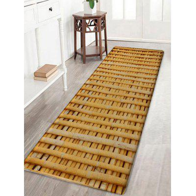 Bamboo Poles Pattern Flannel Nonslip Bath Rug