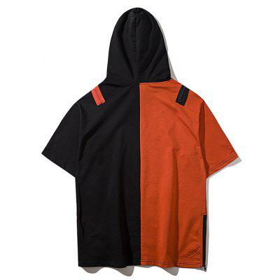 Graphic Two Tone Streetwear HoodieMens Hoodies &amp; Sweatshirts<br>Graphic Two Tone Streetwear Hoodie<br><br>Material: Polyester<br>Package Contents: 1 x Hoodie<br>Pattern Type: Color Block, Graphic<br>Shirt Length: Regular<br>Sleeve Length: Short<br>Style: Streetwear<br>Weight: 0.5200kg