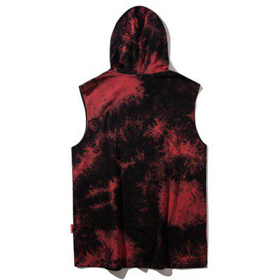 Tie Dye Graphic Hooded TopMens Short Sleeve Tees<br>Tie Dye Graphic Hooded Top<br><br>Collar: Hooded<br>Material: Polyester<br>Package Contents: 1 x Tee<br>Pattern Type: Letter<br>Sleeve Length: Sleeveless<br>Style: Streetwear<br>Weight: 0.3300kg