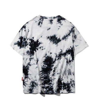 Graphic Tie Dye TeeMens Short Sleeve Tees<br>Graphic Tie Dye Tee<br><br>Collar: Round Neck<br>Material: Polyester<br>Package Contents: 1 x Tee<br>Pattern Type: Letter<br>Sleeve Length: Short<br>Style: Streetwear<br>Weight: 0.2700kg