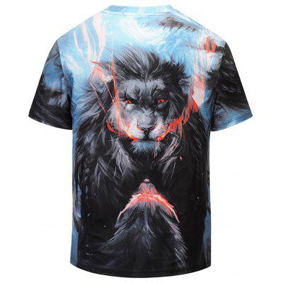 Fierce Animal Printed Short Sleeve TeeMens Short Sleeve Tees<br>Fierce Animal Printed Short Sleeve Tee<br><br>Collar: Crew Neck<br>Material: Polyester, Spandex<br>Package Contents: 1 x T-shirt<br>Pattern Type: 3D, Animal<br>Sleeve Length: Short<br>Style: Fashion<br>Weight: 0.2700kg