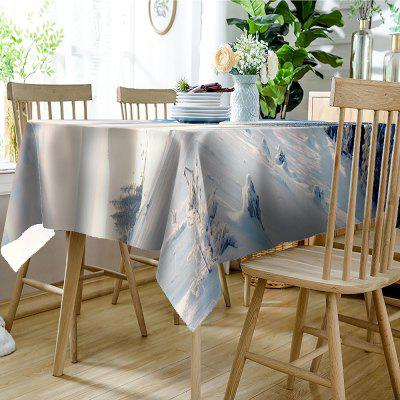 Mountain Trees Snow Print Waterproof Table ClothTable Accessories<br>Mountain Trees Snow Print Waterproof Table Cloth<br><br>Material: Polyester<br>Package Contents: 1 x Table Cloth<br>Pattern Type: Plant, Print<br>Type: Table Cloth<br>Weight: 0.4050kg