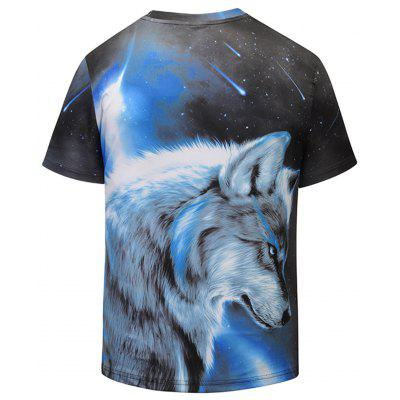 Wolf 3D Print Short Sleeve TeeMens Short Sleeve Tees<br>Wolf 3D Print Short Sleeve Tee<br><br>Collar: Crew Neck<br>Material: Polyester, Spandex<br>Package Contents: 1 x T-shirt<br>Pattern Type: Wolf, Print, Galaxy, Animal, 3D<br>Sleeve Length: Short<br>Style: Fashion<br>Weight: 0.2700kg